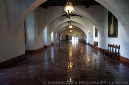 Hallway with Arches inside the Santa Barbara County Courthouse.jpg