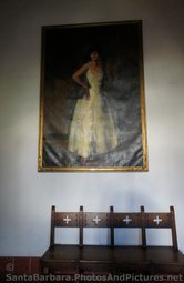Painting of a Woman inside the Santa Barbara County Courthouse.jpg