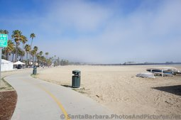 Santa Barbara Waterfront West Beach Joggers & Stearn's Wharf in the distance.jpg
