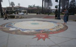 Syuxtun Story Circle is the Intricate Tiled Art Pattern on Sidewalk next to West Beach Santa Barbara.jpg
