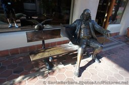 Benjamin Franklin Sculpture at La Arcada Santa Barbara.jpg
