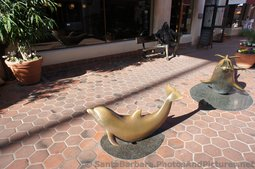 Sculpture of Dolphins at La Arcada Santa Barbara.jpg