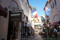 Shops & European Flags at La Arcada Santa Barbara.jpg