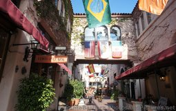 Vine Covered Walls & Overhead Bridge Walkway at La Arcada Santa Barbara.jpg